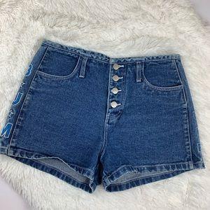 Vintage Shorts - Vintage high waisted bum equipment denim s…
